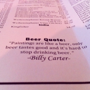 billy carter beer quote