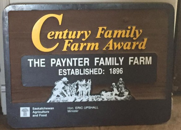 Paynter Family Farm Sign sized