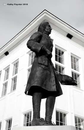 Statue of French Canadian Explorer Pierre d'Iberville outside the Visitors Centre in Biloxi.