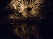MIrror Lake inside Carlsbad Caverns.